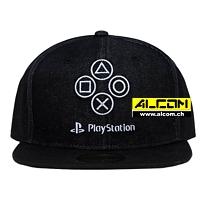 Cap: Sony Playstation - Denim Symbols