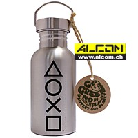 Trinkflasche Edelstahl: Sony Playstation Buttons, 500ml