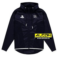 Kapuzen-Jacke: Sony Playstation - Black & White Teq