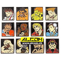 Ansteck-Pins: Street Fighter 12er-Pack - Characters