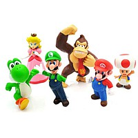 Figurenset: Super Mario Bros. - 6 Figuren (12 cm)
